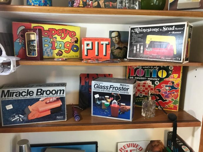 Some of the prizes you can win at one of Peter Perke's retro bingo nights